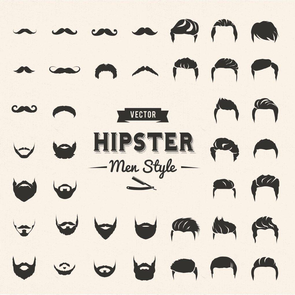 hipster skæg stilarter