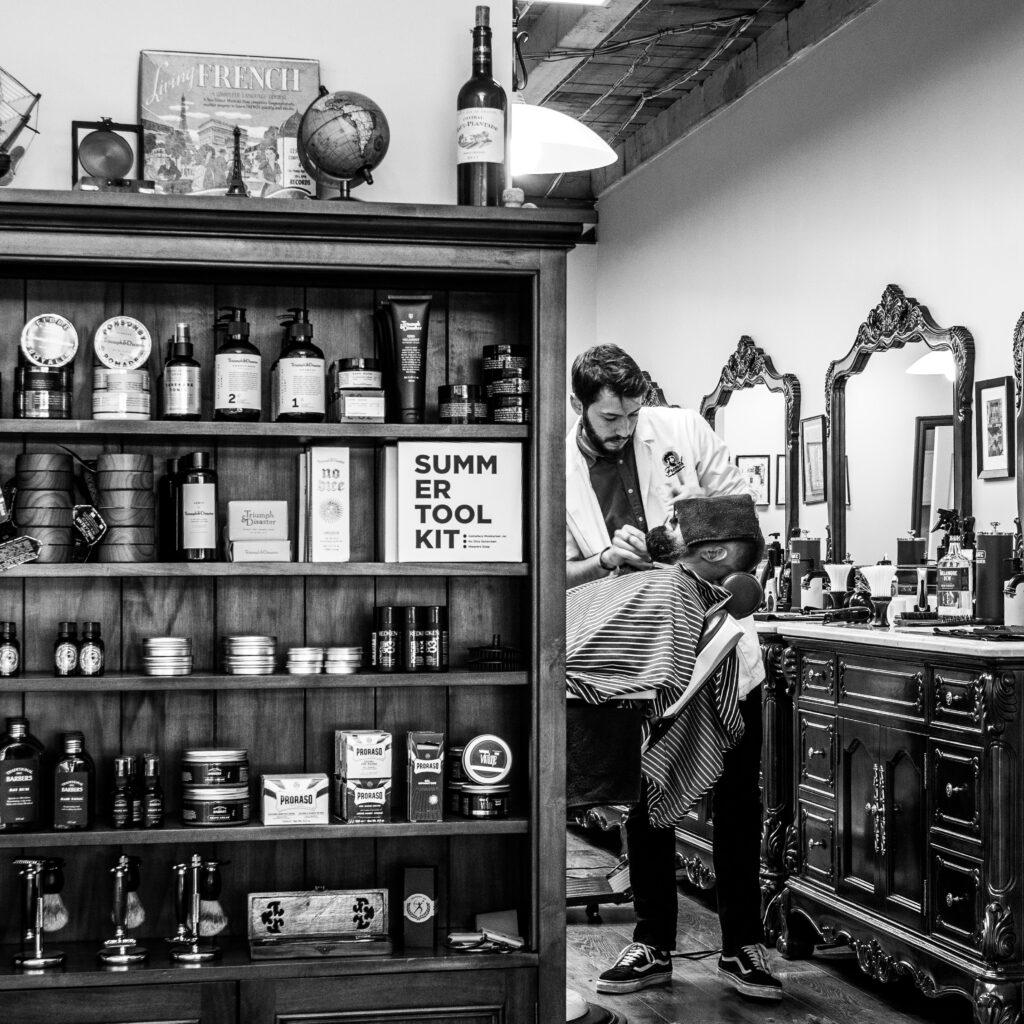 barbersalon i gamle dage historie