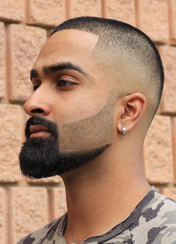 Faded-hår-frisurer-skæg