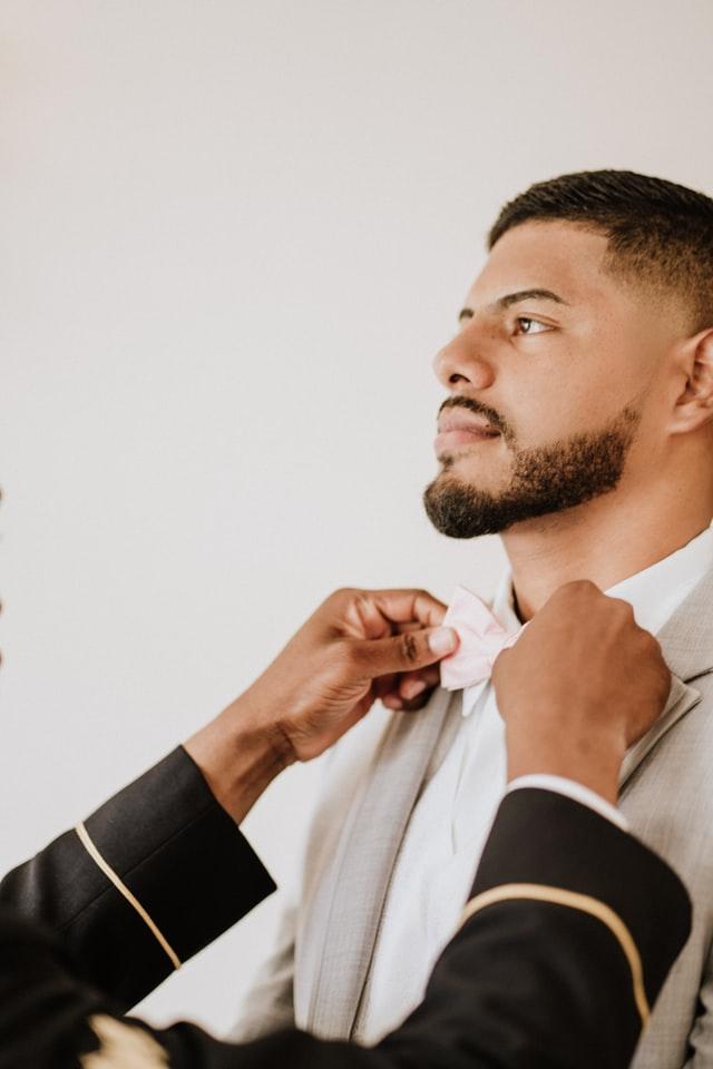 Hals skæg krave