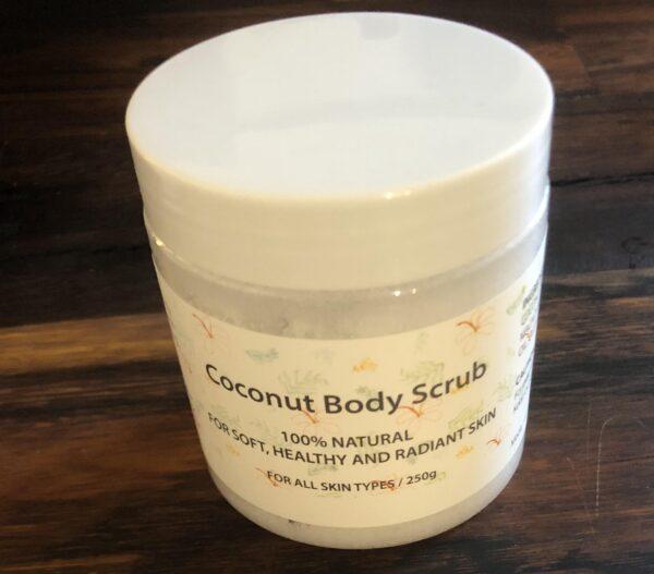 Kokosnød-krops-scrub