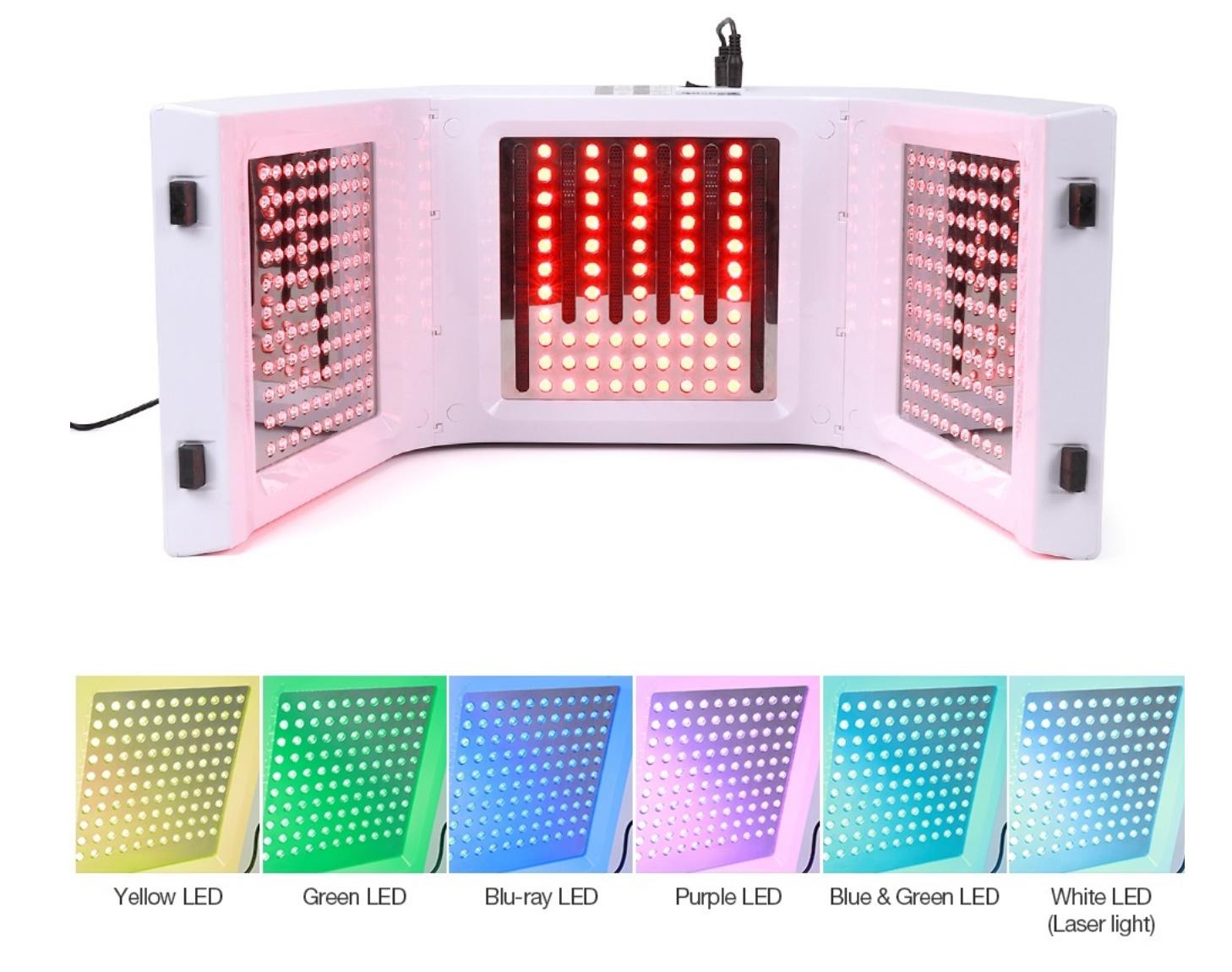 apparat-lys-terapi-7-forskellige-lys-farver